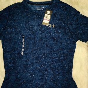 Under Armour Blue Schematic short sleeve shirt XXL